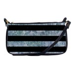 STRIPES2 BLACK MARBLE & ICE CRYSTALS Shoulder Clutch Bags