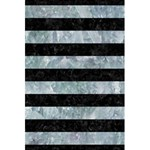STRIPES2 BLACK MARBLE & ICE CRYSTALS 5.5  x 8.5  Notebooks