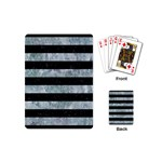 STRIPES2 BLACK MARBLE & ICE CRYSTALS Playing Cards (Mini)