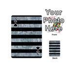 STRIPES2 BLACK MARBLE & ICE CRYSTALS Playing Cards 54 (Mini)
