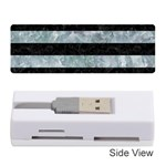 STRIPES2 BLACK MARBLE & ICE CRYSTALS Memory Card Reader (Stick)