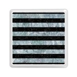 STRIPES2 BLACK MARBLE & ICE CRYSTALS Memory Card Reader (Square)