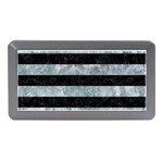 STRIPES2 BLACK MARBLE & ICE CRYSTALS Memory Card Reader (Mini)