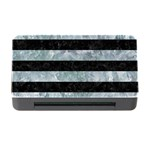 STRIPES2 BLACK MARBLE & ICE CRYSTALS Memory Card Reader with CF