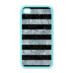 STRIPES2 BLACK MARBLE & ICE CRYSTALS Apple iPhone 4 Case (Color)