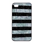 STRIPES2 BLACK MARBLE & ICE CRYSTALS Apple iPhone 4/4s Seamless Case (Black)