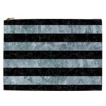 STRIPES2 BLACK MARBLE & ICE CRYSTALS Cosmetic Bag (XXL)