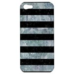 STRIPES2 BLACK MARBLE & ICE CRYSTALS Apple iPhone 5 Hardshell Case