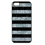 STRIPES2 BLACK MARBLE & ICE CRYSTALS Apple iPhone 5 Seamless Case (Black)