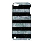 STRIPES2 BLACK MARBLE & ICE CRYSTALS Apple iPod Touch 5 Hardshell Case