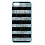 STRIPES2 BLACK MARBLE & ICE CRYSTALS Apple Seamless iPhone 5 Case (Color)