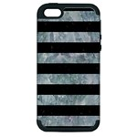 STRIPES2 BLACK MARBLE & ICE CRYSTALS Apple iPhone 5 Hardshell Case (PC+Silicone)