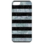 STRIPES2 BLACK MARBLE & ICE CRYSTALS Apple iPhone 5 Classic Hardshell Case