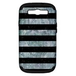 STRIPES2 BLACK MARBLE & ICE CRYSTALS Samsung Galaxy S III Hardshell Case (PC+Silicone)