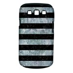 STRIPES2 BLACK MARBLE & ICE CRYSTALS Samsung Galaxy S III Classic Hardshell Case (PC+Silicone)