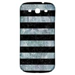 STRIPES2 BLACK MARBLE & ICE CRYSTALS Samsung Galaxy S3 S III Classic Hardshell Back Case