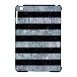 STRIPES2 BLACK MARBLE & ICE CRYSTALS Apple iPad Mini Hardshell Case (Compatible with Smart Cover)