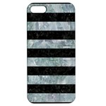 STRIPES2 BLACK MARBLE & ICE CRYSTALS Apple iPhone 5 Hardshell Case with Stand