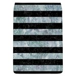 STRIPES2 BLACK MARBLE & ICE CRYSTALS Flap Covers (L)