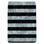 STRIPES2 BLACK MARBLE & ICE CRYSTALS Flap Covers (S)