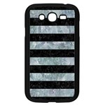 STRIPES2 BLACK MARBLE & ICE CRYSTALS Samsung Galaxy Grand DUOS I9082 Case (Black)
