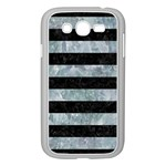 STRIPES2 BLACK MARBLE & ICE CRYSTALS Samsung Galaxy Grand DUOS I9082 Case (White)