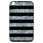 STRIPES2 BLACK MARBLE & ICE CRYSTALS Samsung Galaxy Tab 3 (8 ) T3100 Hardshell Case