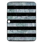 STRIPES2 BLACK MARBLE & ICE CRYSTALS Samsung Galaxy Tab 3 (10.1 ) P5200 Hardshell Case
