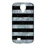 STRIPES2 BLACK MARBLE & ICE CRYSTALS Samsung Galaxy S4 Classic Hardshell Case (PC+Silicone)