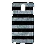 STRIPES2 BLACK MARBLE & ICE CRYSTALS Samsung Galaxy Note 3 N9005 Hardshell Case