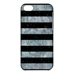 STRIPES2 BLACK MARBLE & ICE CRYSTALS Apple iPhone 5C Hardshell Case