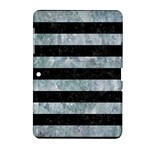 STRIPES2 BLACK MARBLE & ICE CRYSTALS Samsung Galaxy Tab 2 (10.1 ) P5100 Hardshell Case