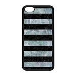 STRIPES2 BLACK MARBLE & ICE CRYSTALS Apple iPhone 5C Seamless Case (Black)