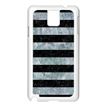 STRIPES2 BLACK MARBLE & ICE CRYSTALS Samsung Galaxy Note 3 N9005 Case (White)