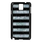 STRIPES2 BLACK MARBLE & ICE CRYSTALS Samsung Galaxy Note 3 N9005 Case (Black)