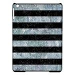 STRIPES2 BLACK MARBLE & ICE CRYSTALS iPad Air Hardshell Cases