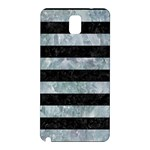 STRIPES2 BLACK MARBLE & ICE CRYSTALS Samsung Galaxy Note 3 N9005 Hardshell Back Case