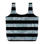 STRIPES2 BLACK MARBLE & ICE CRYSTALS Full Print Recycle Bags (L)