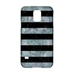 STRIPES2 BLACK MARBLE & ICE CRYSTALS Samsung Galaxy S5 Hardshell Case