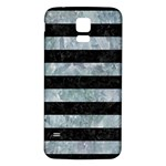 STRIPES2 BLACK MARBLE & ICE CRYSTALS Samsung Galaxy S5 Back Case (White)