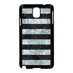 STRIPES2 BLACK MARBLE & ICE CRYSTALS Samsung Galaxy Note 3 Neo Hardshell Case (Black)