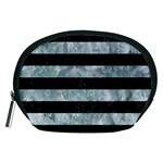 STRIPES2 BLACK MARBLE & ICE CRYSTALS Accessory Pouches (Medium)