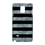 STRIPES2 BLACK MARBLE & ICE CRYSTALS Samsung Galaxy Note 4 Hardshell Case
