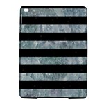 STRIPES2 BLACK MARBLE & ICE CRYSTALS iPad Air 2 Hardshell Cases