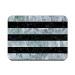 STRIPES2 BLACK MARBLE & ICE CRYSTALS Double Sided Flano Blanket (Mini)