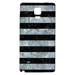 STRIPES2 BLACK MARBLE & ICE CRYSTALS Galaxy Note 4 Back Case