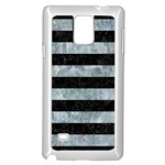 STRIPES2 BLACK MARBLE & ICE CRYSTALS Samsung Galaxy Note 4 Case (White)