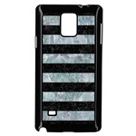 STRIPES2 BLACK MARBLE & ICE CRYSTALS Samsung Galaxy Note 4 Case (Black)