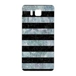 STRIPES2 BLACK MARBLE & ICE CRYSTALS Samsung Galaxy Alpha Hardshell Back Case