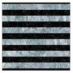 STRIPES2 BLACK MARBLE & ICE CRYSTALS Large Satin Scarf (Square)